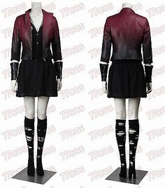 Avengers:Age of Ultron Scarlet Witch Wanda Maximoff Cosplay Costume Outfit in Clothing, Shoes & Accessories,Costumes, Reenactment, Theater,Costumes | eBay