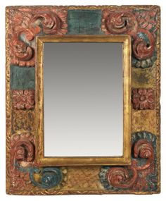 """""""Frame with mirror"""" by Charles Prendergast at Williams College Museum of Art"""