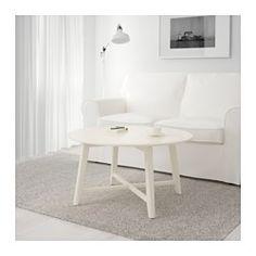 IKEA - KRAGSTA, Konferenčný stolík, biela, , Okrúhly tvar poskytuje štedrú stolovú dosku na podnosy, kávu alebo čajový seris. Vďaka jeho šikovným rozmerom ho možno v izbe jednoducho umiestniť.Nohy stola sú vyrobené z masívneho dreva, odolného prírodného materiálu.Plastové nožičky, ktoré sú súčasťou balenia, chránia podlahu pred škrabancami.Ľahko môžete vytvoriť vhodný vzhľad doplnením KRAGSTA kávového stolíka o súpravu menších stolíkov z rovnakej série.