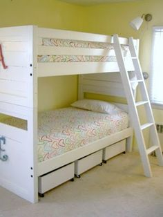 "That's My Letter: ""S"" is for Storage - idea for bunk bed organization"