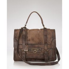 Frye Satchel - Cameron ($380) ❤ liked on Polyvore featuring bags, handbags, borse, purses, man bag, genuine leather handbags, leather hand bags, hand bags and leather handbags