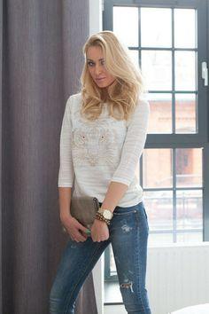 bluzeczka 1871 krem | Odzież damska Odzież damska \ bluzki WYPRZEDAŻ NOWOŚCI Odzież damska \ bluzki