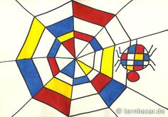 Spinnennetz a la Piet Mondrian - Startpunkt DE
