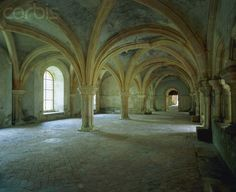 Chapter hall in the Abbey De Fontenay - France