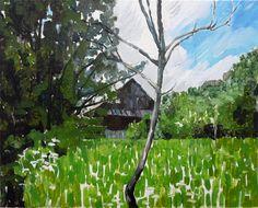 "Mykolé, ""Malvinas house (Abandoned)"", 2013, 33 x 41 cm, Oil, canvas. Contemporary landscape paintings."