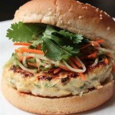 Chef Johns Chicken Satay Burger  - Allrecipes.com
