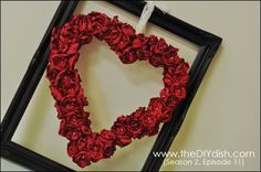 DIY How to make Roses....Satin, Sequin, and Paper Rose Hearts #Valentines