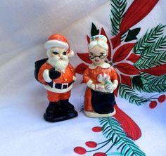 Santa & Mrs. Claus Vintage 1950s Ceramic by OldStNicksAttic