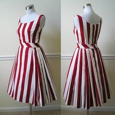 Very circusy red and white stripe dress