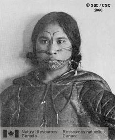 Facial Tattoo on Inuit Woman