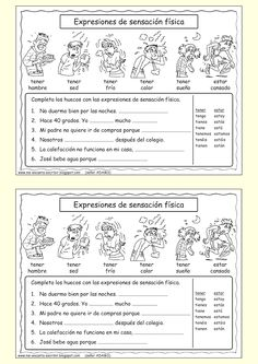 Expresiones, de sensación física Review these at the same time new (more advanced) vocab is introduced in senior years (torcerse, caerse, sentirse, romperse)