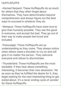 Hufflepuff and Wampus and yes.