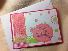 Homemade Birthday Card...Embossed Heart by SimplyHandmadebyRina