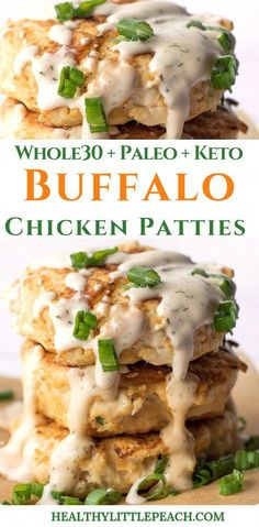 An easy and delicious Paleo andKeto compliant Buffalo Chicken Patty with Southwest Ranch. Super easy and is great for Sunday meal prep. Recipes paleo Buffalo Chicken Patties With Spicy Ranch Keto, Paleo) - Healthy Little Peach Buffalo Chicken, Pollo Buffalo, Southwest Chicken, Cheap Clean Eating, Clean Eating Snacks, Healthy Eating, Healthy Foods, Keto Foods, Healthy Soup
