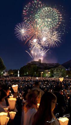 Bastille Day in Lourdes, France