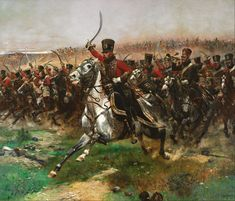 Vive L'Empereur. (The French 4th Hussar at the Battle of Friedland) Édouard Detaille, 1891