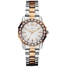 GUESS Crystal Total Two Tone Stainless Steel Bracelet Μοντέλο: W0018L3 Τιμή: 169€ http://www.oroloi.gr/product_info.php?products_id=29278