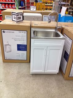 Glacier Bay Laundry Tub From Home Depot  Under $300