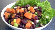 Black Bean, Sweet Potato & Cranberry Salad