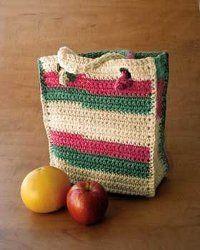 Sturdy Errands Bag | AllFreeCrochet.com ༺✿ƬⱤღ  https://www.pinterest.com/teretegui/✿༻