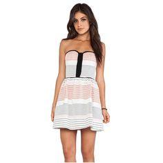 Ella Moss Sunset Zan Striped Strapless Dress
