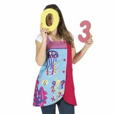 Blusa Números Marinos Teacher Apron, Diy Home Crafts, Kids And Parenting, Jumper, Couture, Tank Tops, Sewing, Blouse, Crochet