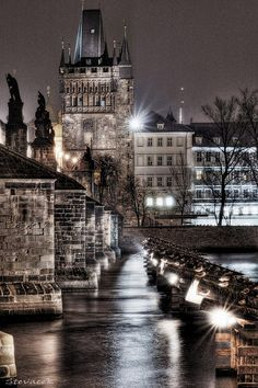 *Charles Bridge from Kampa, Prague* |Photo by ~Stevacek~ (Steve Coleman) December 2 2006 Malá Strana, Prague 1, Hlavni mesto Praha, Czech Republic|