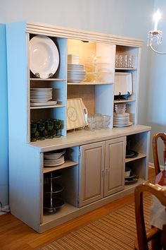 I would love a piece of furniture like this to hold all my party dishes!!
