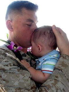 First time meeting his son @ 6 months old, this picture says it all; how much they sacrifice!!