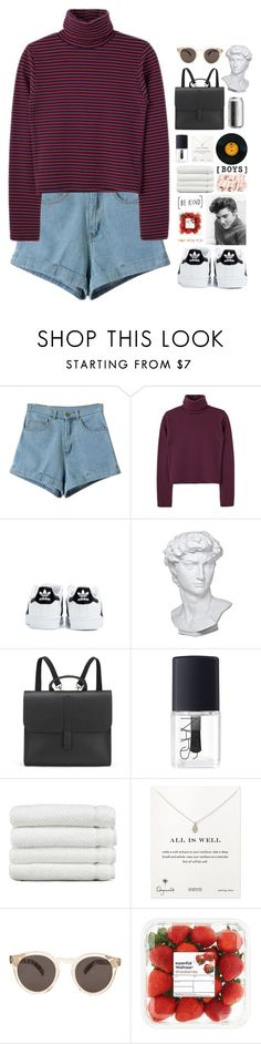 """""""It's What You Do to Me"""" by marianne-david-17 ❤ liked on Polyvore featuring adidas, Eichholtz, Danielle Foster, NARS Cosmetics, Linum Home Textiles, Dogeared, Illesteva, Warehouse, sets and setsbymariannedavid"""