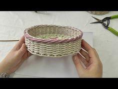 Загибка ИЗИДА цветными трубочками. Плетение из газетных трубочек - YouTube Straw Weaving, Paper Weaving, Basket Weaving, Fun Crafts, Paper Crafts, Newspaper Basket, Recycle Newspaper, Crochet Basket Pattern, Love Craft