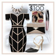 """""""Dresses Under $100"""" by madcar-2013 ❤ liked on Polyvore featuring Marc by Marc Jacobs, Command, Dorothy Perkins and Rimmel"""