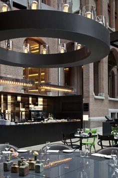 Restaurant at the Conservatorium hotel Amsterdam designed by Piero Lissoni