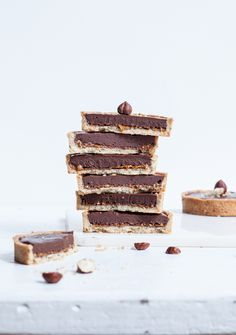 Chocolate Hazelnut Tarts (photo by Virginie Garnier) #desserts