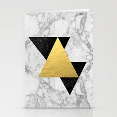 Marble Tri Black & Gold cards by CharlotteWinter