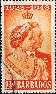 Stamps Barbados 1948 King George VI Royal Silver Wedding Set Fine Mint SG 265 6 Scott 210 11 Other british Commonwealth Stamps for sale here