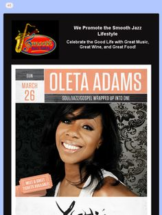 Oleta Adams at Yoshi's Jazz Club, Oakland, CA on March 26, 2017.