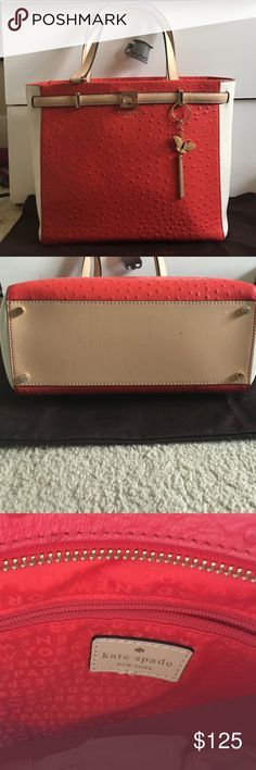 Like-New Kate Spade Demarco Huston Street Exotic Love this bag but I just have too many purses. Only used a couple times. Looks like a new bag. Great color for summer. Very roomy, can fit a lot. Check out the photo to see how big it is compared to Rachelle. Come with dust bag. kate spade Bags Shoulder Bags