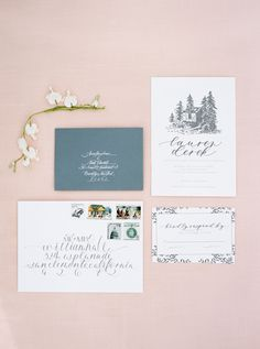 Wedding Stationery - Dreamy Garden Wedding Inspiration with a Hint of Provence