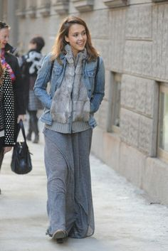 i love this winter maxi dress look!
