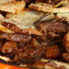 Beef Stew Gratin Recipe by Tasty Beef Recipes, Cooking Recipes, Cooking Tv, Lasagna Recipes, Proper Tasty, French Onion Chicken, Tasty Videos, Beef Dishes, One Pot Meals