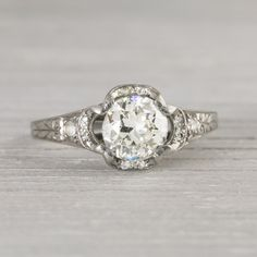 Vintage .80 Carat Art Deco Engagement Ring Circa 1920