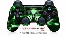 Sony PS3 Controller Decal Style Skin - Radioactive Green