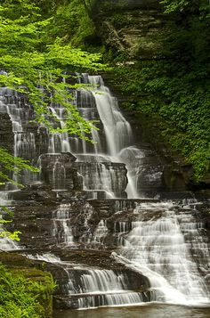 Upper falls and the greenery of Fillmore Glen State Park in Moravia, NY http://nysparks.com/parks/157/details.aspx