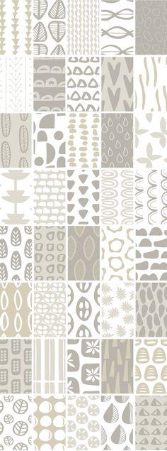 Scandinavian Patterns Set of 40