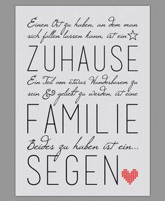 """Smart Art ★ Kunstdruck """"Familie ist ein Segen"""""""