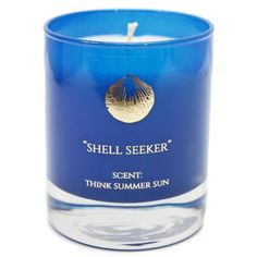 Hightide Devon  - Shell Seeker Scent Think Summer Sun 30cl Candle ($36) ❤ liked on Polyvore featuring home, home decor, candles & candleholders, coconut scented candles, vanilla scented candles, scented candles, vanilla candles and fragrance candles