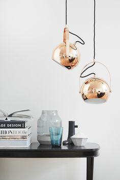 Kupfer-Pendelleuchte, Lampe // copper lamp by spezialschön. via DaWanda.com