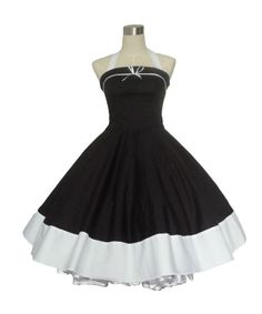 Vintage Polka Dot Full Sweep Swing Rockabilly  Dress