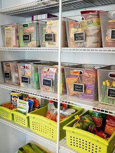 Como organizar a despensa ou o armário da cozinha - Casinha Arrumada: